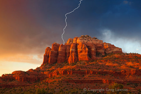 Bolt Out of the Blue - Greg Lawson Photography Art Galleries in Sedona