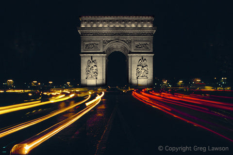 Paris After Dark - Greg Lawson Photography Art Galleries in Sedona