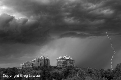 Monsoon Bolt - Greg Lawson Photography Art Galleries in Sedona
