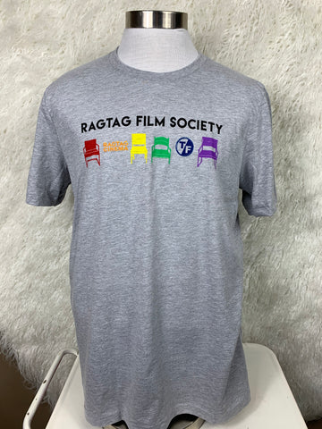 Ragtag Film Society Rainbow Chairs Tee