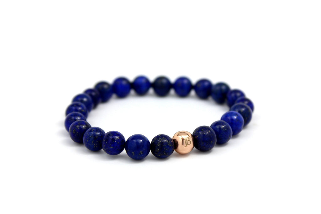 Rose Gold with Blue Lapis - J.Beverly  - 1