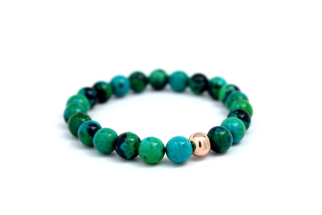 Rose Gold with Green Adventurine - J.Beverly  - 1
