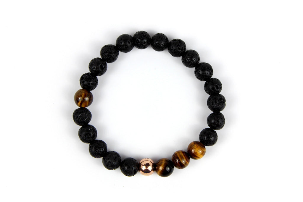 Rose Gold with Black Lava | Tiger Eye - J.Beverly  - 2