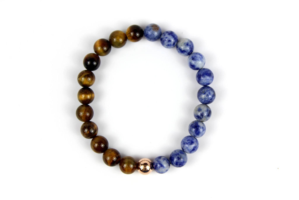 Rose Gold with Blue Coral | Tiger Eye - J.Beverly  - 2