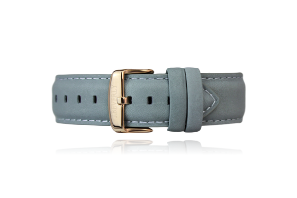 Slate Gray Leather Strap