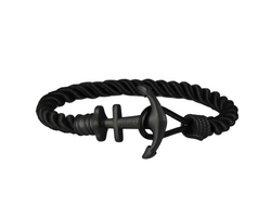 Anchor on Black Nylon | Matte Black