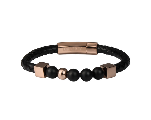 Black Leather | Rose Gold Onyx Series