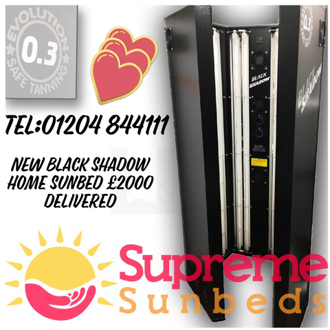 VX240 Black Shadow home 24 tube high performance sunbeds