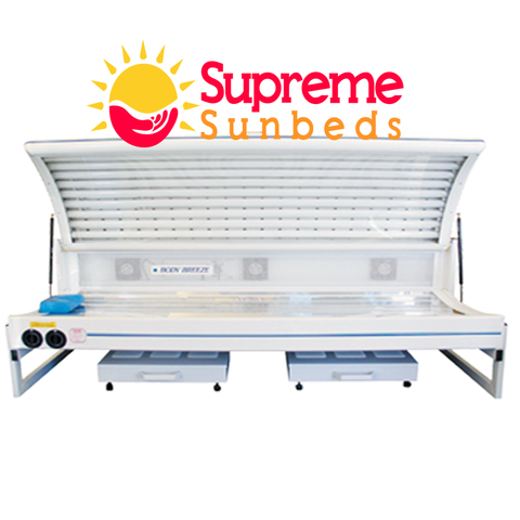 Double Elite Sunbed Canopy 18 Tube  and 4 facial Lamps 160-200 Canopy. - supremesunbeds  - 1
