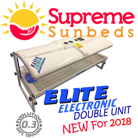 NEW 2018 Electronic Double Elite Premium home sunbed 18 tube and 4 facial tanners