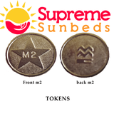 Sunbed Meter Tokens L2 /M2 1 bag of 25 tokens - supremesunbeds  - 1