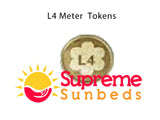 Sunbed meter tokens L4, M4 star token box tokens 1 bag of 25 tokens - supremesunbeds  - 2