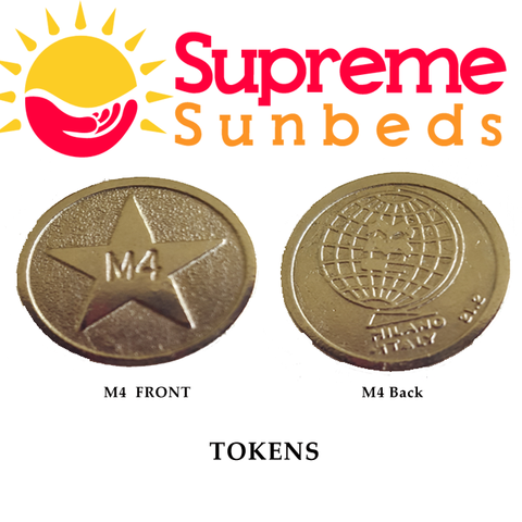 Sunbed meter tokens L4, M4 star token box tokens 1 bag of 25 tokens - supremesunbeds  - 1