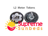 Sunbed Meter Tokens L2 /M2 1 bag of 25 tokens - supremesunbeds  - 2