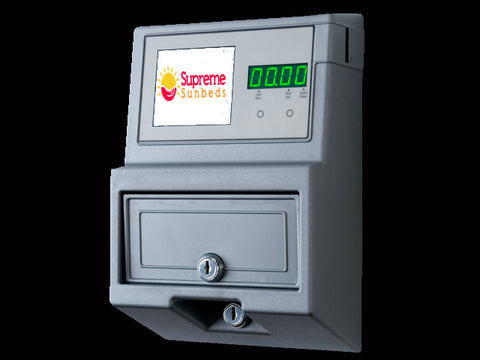 Digital sunbed sunbeds coin token operated meter box - supremesunbeds