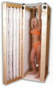 Stand up sunbeds home use 20 tube pine sunbed £699 - supremesunbeds  - 1