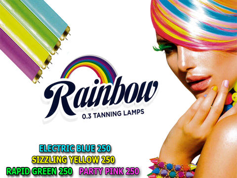 NEW Rainbow 2m 0.3 Sunbed Tubes Tanning Lamps choose quantity - supremesunbeds