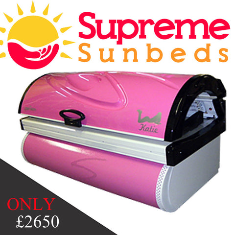 Sunquest Zenith lie down sunbed in Pink HOT