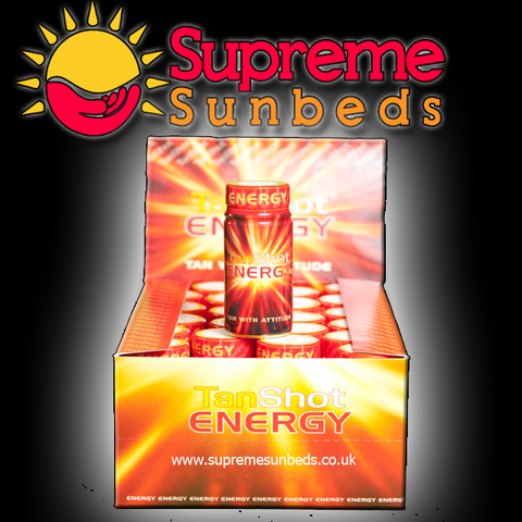 Sunbed Energy Tan shots, shot drink when tanning - supremesunbeds  - 1
