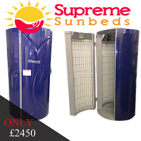 Tansun vitesse stand up vertical sunbed in blue