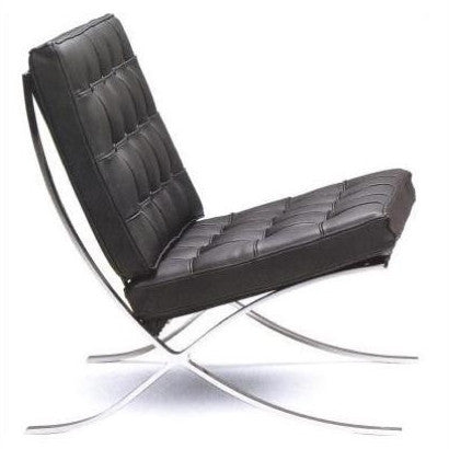 Exposition Leather Chair by Full Aniline, Black