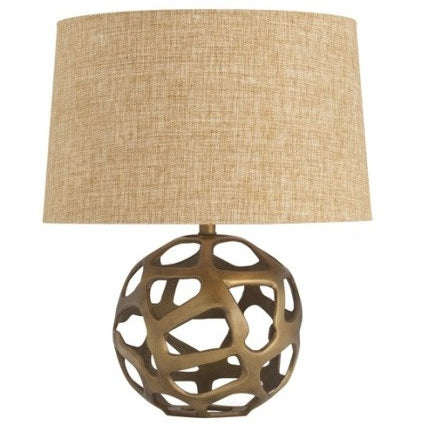 Ennis Antique Brass Web Sphere Lamp