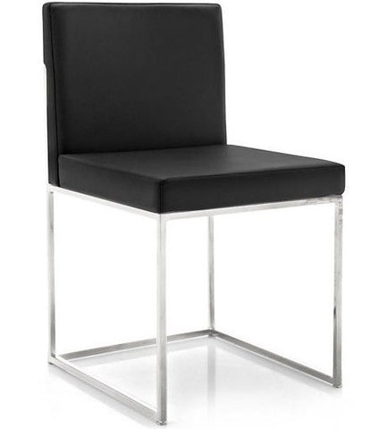 Even Plus Leather Chair, Black/Chrome
