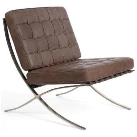 Exposition Leather Chair by Full Aniline, Brown