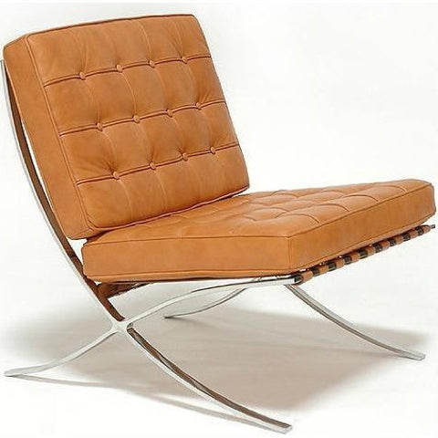 Exposition Leather Chair by Full Aniline, Whiskey Brown