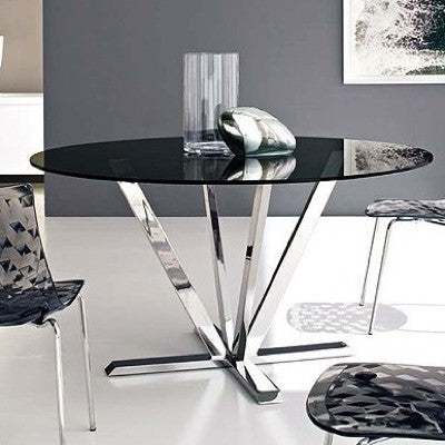 Stardust Dining Table, Grey/Metal