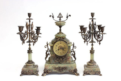 French Style Clock Set with Candelabras