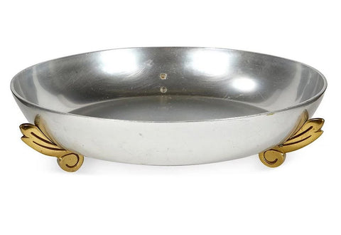 Art Deco Gilt Footed-Console Bowl