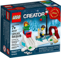 Lego New 40107: Winter Skating Scene Limited Edition