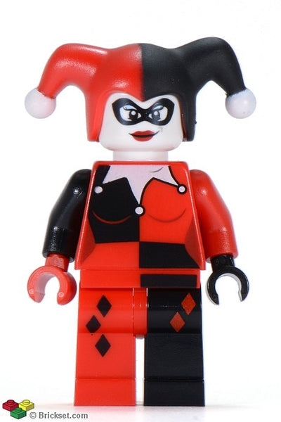 Lego Used Harley Quinn - Black and Red Hands 6857