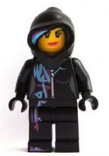 Lego Movie - New Wyldstyle with Hood Minifigure