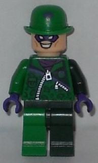 Lego Used The Riddler - Green and Dark Green Zipper Outfit 76012