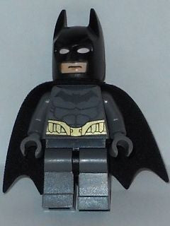 Lego Used Batman - Dark Bluish Gray Suit, Gold Belt, Dark Bluish Gray Hands 76012