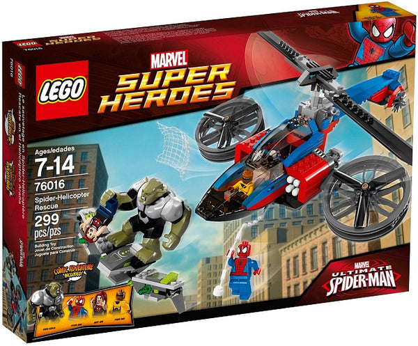 LEGO Marvel Super Heroes Set #76016 Spider Helicopter Rescue