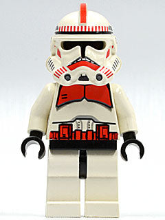 Lego Used Clone Trooper Ep.3, Red Markings, 'Shock Trooper' 7655