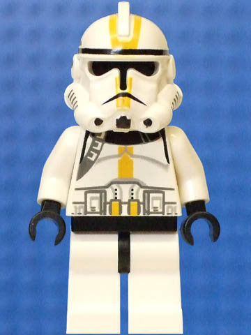 Lego Used Clone Trooper Ep.3, Yellow Markings, No Pauldron, 'Star Corps Trooper'