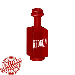 Brick Forge Trans Red Square Bottle (RedRum)