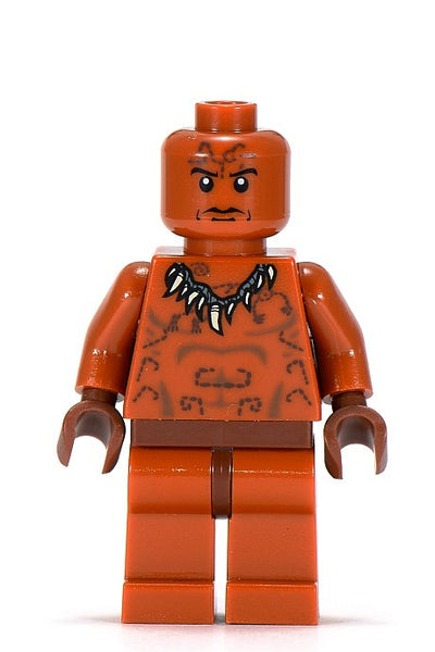 Lego Indiana Jones Set #7627- Ugha Warrior without Hair