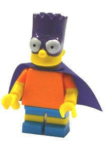 Lego Series 2 Simpsons  71009:  Bartman Bart minifigure