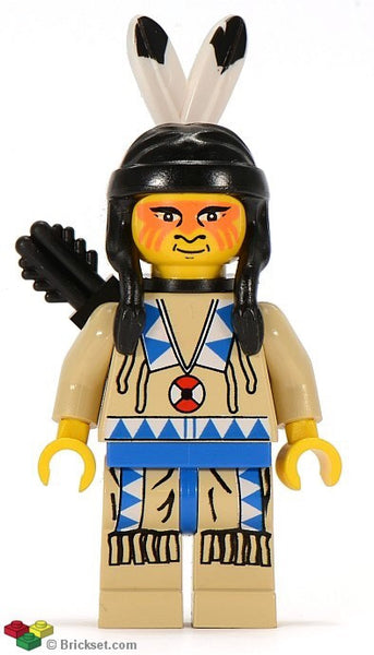 Lego Western Indian tan shirt Blue 2846 6718 6748 6763 6766 figure