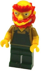 Lego Series 2 Simpsons 71009: Groundskeeper Willie minifigure