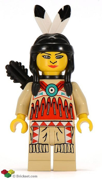 Lego Western Indian Female 6746 6748 6763 6766 figure