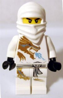 Lego Ninjago Zane DX dragon suit 2260 used figure