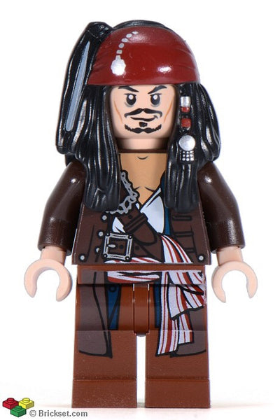 Lego Pirates of Carribean Jack Sparrow jacket 4184 figure
