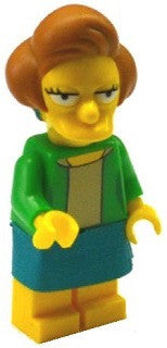 Lego Series 2 Simpsons 71009: Edna Krabappel minifigure