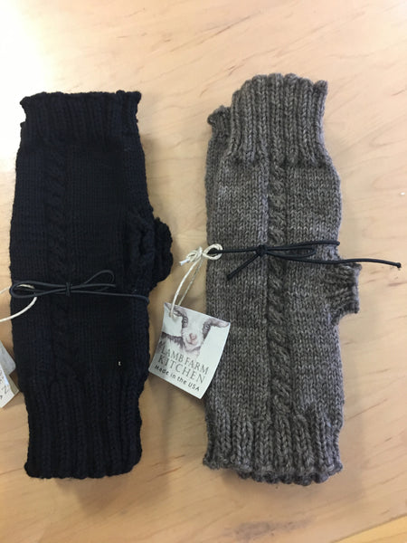 Hand-Knit Wool Fingerless Gloves